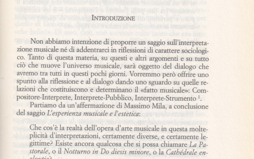 La sfida del rapporto. L' interprete e le sue relazioni – Di Paolo Vergari